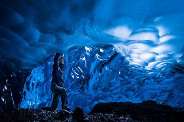 Amazing Blue Cave Selfie